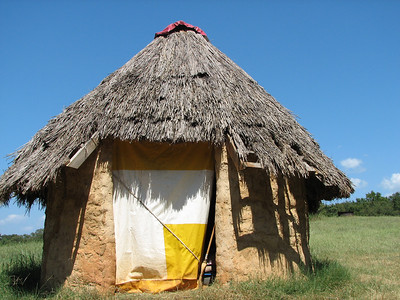 A lower class Mozambique hut