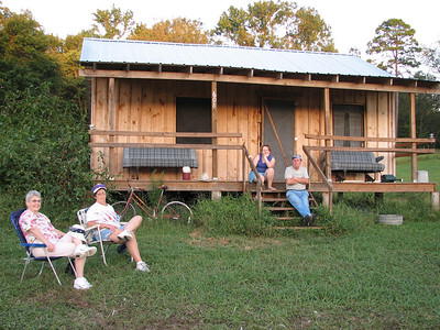 "The ""Bonet"" family gathered in front of their Mississippi delta house"