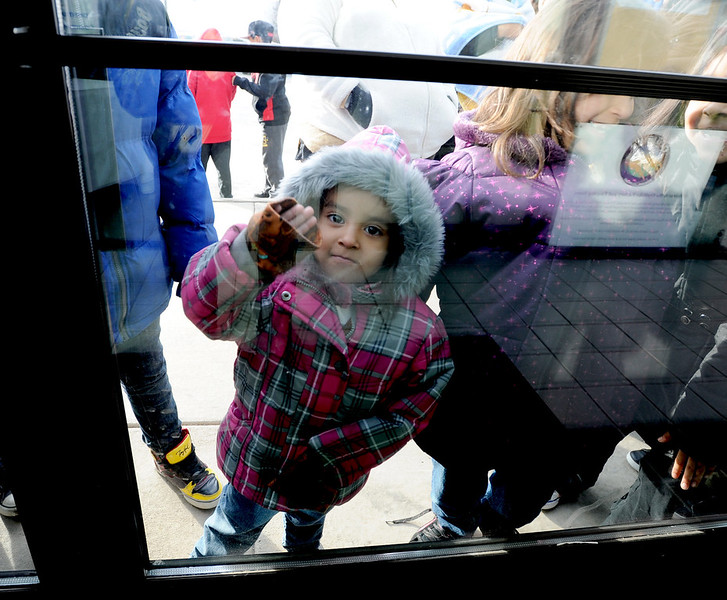"Rosalinda Arellano, 4, waits for the doors to open so she can pick out a new bike.<br /> Community Cycles hosted their 7th annual Kids' Holiday Bike Giveaway on Sunday.<br /> For more photos and a video of the bike giveaway, go to  <a href=""http://www.dailycamera.com"">http://www.dailycamera.com</a>.<br /> Cliff Grassmick  / December 16, 2012"