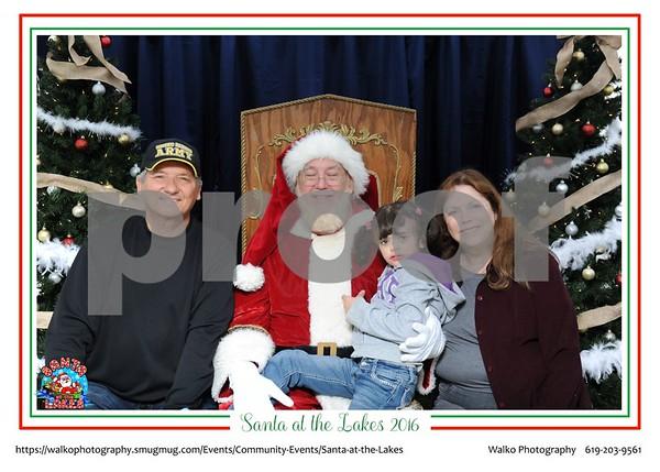 Santa at the Lakes - with framing