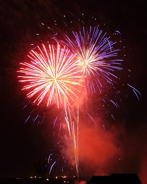 July fireworks in Colorado.