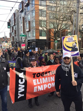 MLK Day March in Seattle, Jan 16, 2017