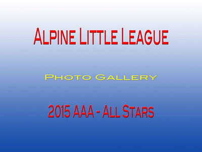 2015 Little League  AAA All Stars