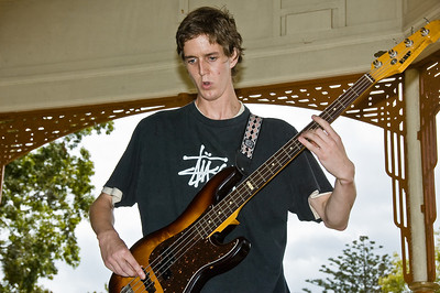 Ross Larsen on bass Concert in the Parks 15th Anniversary Auckland Domain Auckland New Zealand - 30 Mar 2008