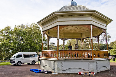Band rotunda Auckland Domain Auckland New Zealand - 30 Mar 2008