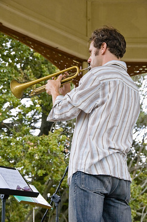 KIngsley Melhuish on trumpet Concert in the Parks 15th Anniversary Auckland Domain Auckland New Zealand - 30 Mar 2008
