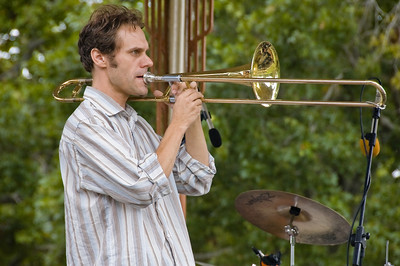 Kingsley Melhuish on trombone Concert in the Parks 15th Anniversary Auckland Domain Auckland New Zealand - 30 Mar 2008