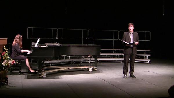 Je crois entendre encore ~ Georges Bizet   From Les Pecheurs des Perles Max Johl ('07), tenor Lori Milbier ('08), piano