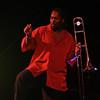 Reggie Young on the trombone