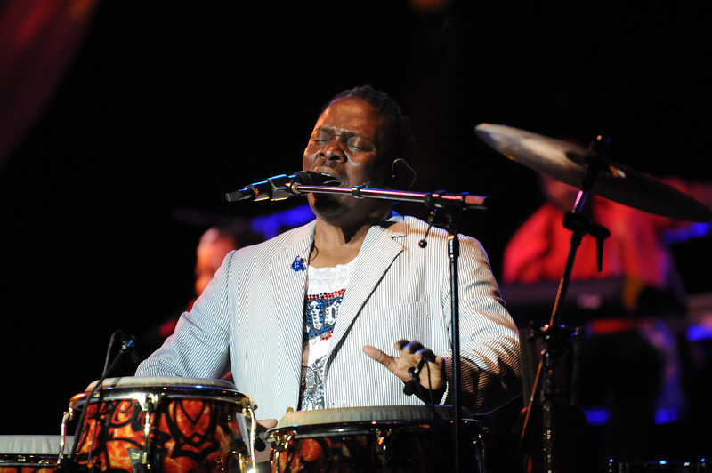Phil Bailey on percussion