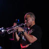 Bobby Burns on the trumpet