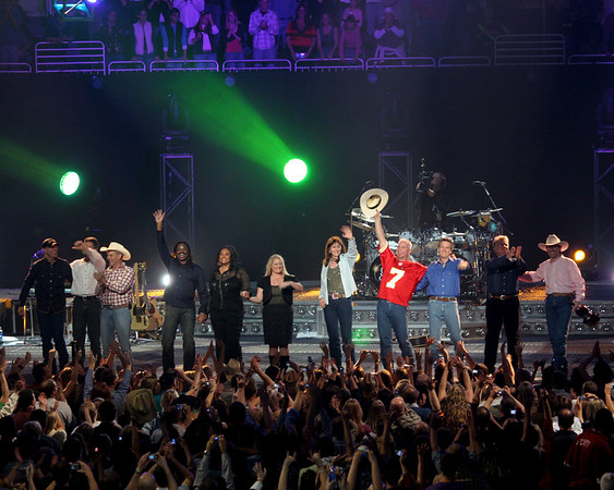 "Posted on Sat, Nov. 10, 2007 <br /> Garth Brooks pumps up the fans in sixth Sprint Center show<br /> By TIMOTHY FINN<br /> The Kansas City Star <br /> Saturday's show was the best of six very good shows, for several reasons: The setlist changed significantly; the headliner came out in a Chiefs home jersey (No. 7), which stoked his fans; it was Saturday night; the two big local college teams won their football games; and the crowd showed up in a fever pitch.<br /> <br /> More than an hour before show time, outside the arena and in a nearby bar, fans were singing along to Garth songs. They brought that enthusiasm with them into the Sprint Center.<br /> <br /> Thursday's show felt like a once-in-a-lifetime event. Saturday's topped that, somehow.<br /> <br /> Perhaps anticipating his customers' pent-up mania, Brooks imported some new tunes into the show, including ""Shameless,"" which he'd played only once this week. He also sang Bob Dylan's ""To Make You Feel My Love"" for the second time this week.<br /> <br /> During the encore, he took a request, via a sign held from the seats behind the stage: ""When You Come Back to Me Again,"" a song from the movie ""Frequency"" that he performed solo-acoustic. He also added two songs he hadn't performed all week: ""Longneck Bottle"" and ""American Honkytonk Bar Association.""<br /> <br /> And though I've heard it six days in a row, I still haven't grown tired in the slightest of the response he gets when he strums the beginning to ""Friends in Low Places."" Nor have I taken for granted the gargantuan sing-along it gets. It's like a madhouse soccer crowd singing its national anthem after its team has won the World Cup: a mob in a state of exhilaration.<br /> <br /> Brooks has organized these shows masterfully, but something seems apparent now that we're two-thirds of the way through: He is heading for some momentous blowout on Wednesday, the night he'll broadcast everything to theaters all over North America.<br /> <br /> That ought to be an unforgettable show. And getting to that point should be as memorable.<br /> <br /> <br /> <br /> --------------------------------------------------------------------------------<br /> <br /> Setlist: The Fever; Good Ride Cowboy; Rodeo; Two of a Kind, Workin' on a Full House; Shameless; The Thunder Rolls; We Shall Be Free; Unanswered Prayers; To Make You Feel My Love; The River; Callin' Baton Rouge; The Beaches of Cheyenne; Much Too Young (To Feel This Damn Old); Papa Loves Mama; Two Pina Coladas; More Than a Memory; Friends in Low Places; The Dance. Encore: Ain't Goin' Down ('Til the Sun Comes Up); When You Come Back to Me Again; That Summer; Longneck Bottle; American Honky-Tonk Bar Association.<br /> <br /> <br /> <br /> --------------------------------------------------------------------------------<br /> <br /> @ Go to KansasCity.com for reviews of the concerts and to share your thoughts and photos."