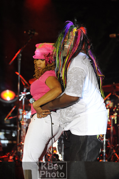 At 68, George Clinton can still have a good time with a fan on stage