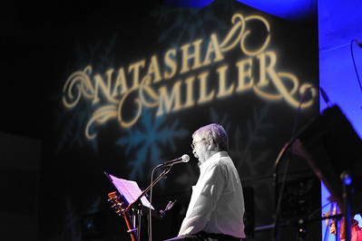 "Martin Miller reads ""A Visit from Saint Nicholas"" during Natasha Miller's annual Holiday Concert at Yoshi's on December 19, 2011 at Yoshi's in San Francisco, California."