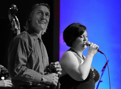 "Natasha Miller and Paul Mehling perform ""Baby It's Cold Outside"" during Natasha's annual Holiday Concert at Yoshi's on December 19, 2011 at Yoshi's in San Francisco, California."