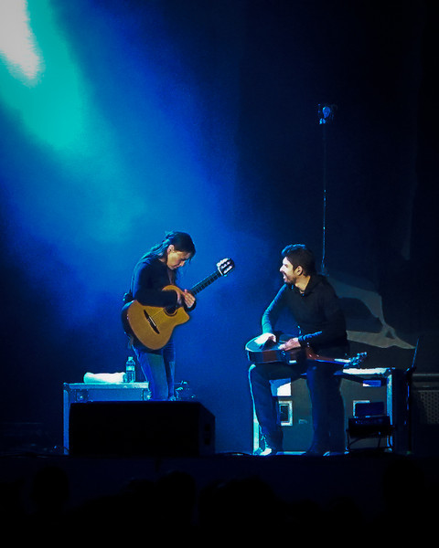 Rodrigo y Gabriela. The photo turned out pretty well even at ISO 4000. The G11 is a nice little camera! :-)