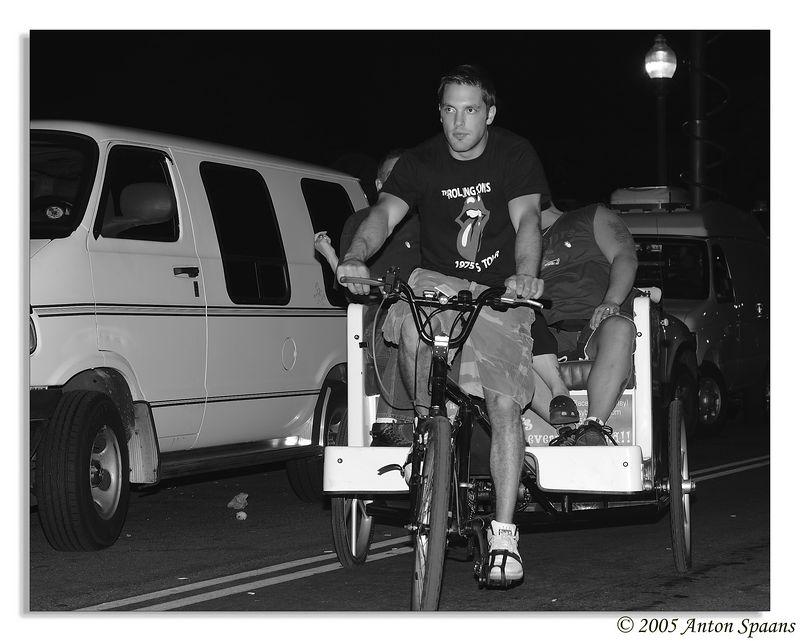 Bike-taxi on Yawkey Way.
