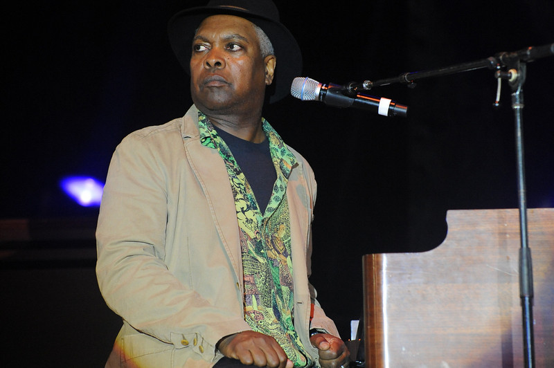 Booker T. Jones - About as animated as he got all night