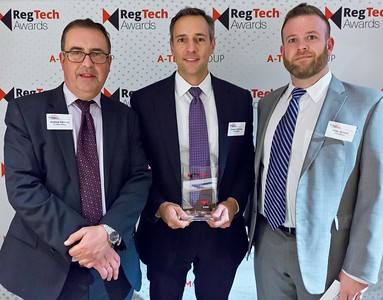 RegTech Award Darren Thomas and Peter Brown of IHS Markit