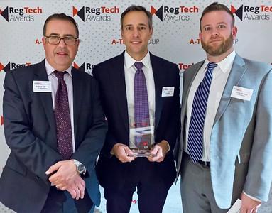 RegTech Award Darren Thomas and Peter Brown of IHS Markit
