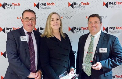 RegTech Award for Most Innovative Use Of A Vendor Solution To Address Data Governance, ??? ??? and Liam Cuddy, Fenergo