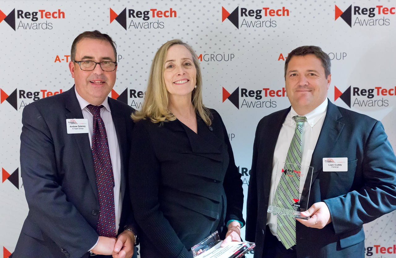 RegTech Award for Most Innovative Use Of A Vendor Solution To Address Data Governance, ??? ??? and Liam Cuddy, Fenergo