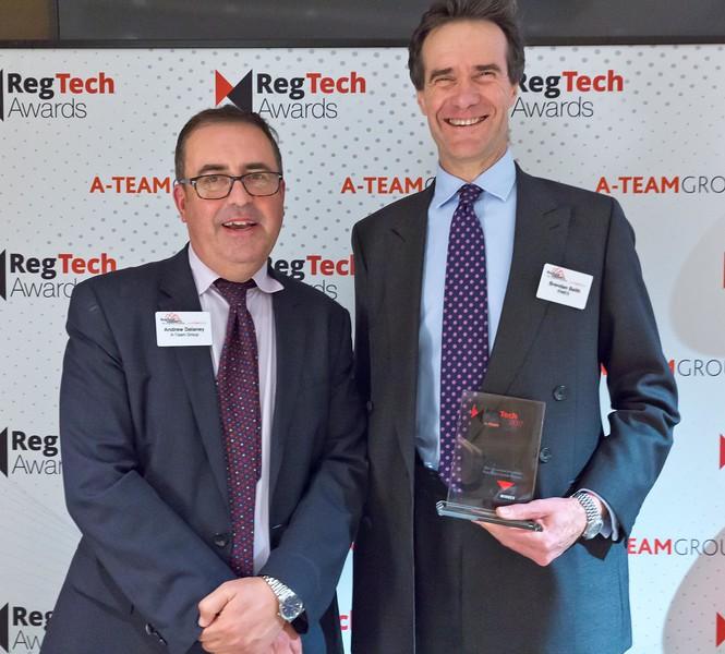 RegTech Award to Brandon Baith, RIMES