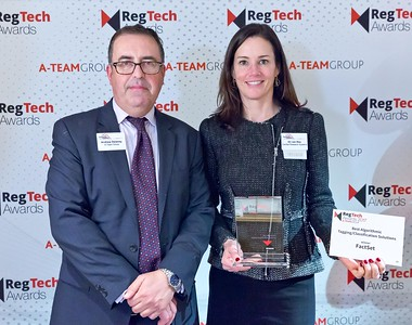 RegTech Award for Best Algorithmic Tagging/Classification Solution, Ali van Nes, FactSet Research Systems