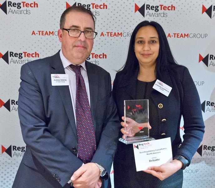 RegTech Award for Best Regulatory Consultancy - North America Priyanka Pushkarna, Deloitte