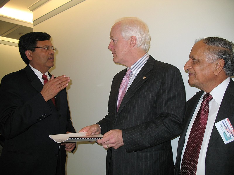 U.S. Senators and Congressmen and women at 2009 Washington, DC even hosted by business people of Indian origin to highlight involvement of Pakistani based operatives in the November 26, 2008 Mumbai terrorist attack.