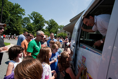 The ice cream truck -- Beth El End-of-Year Family Picnic 2012