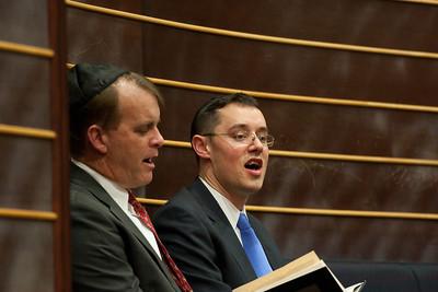Rev. Ron Foster and Rev Adam Briddell singing America the Beautiful -- Thanksgiving Interfaith Service 2012 (Beth El & Bethesda United Methodist Church)