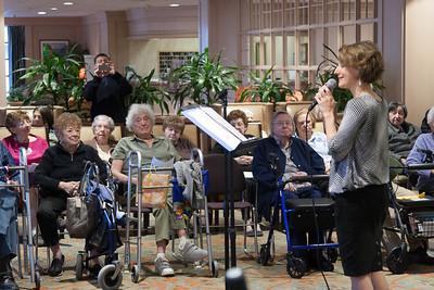 Julie Mack performing standards at Ring House -- Beth El Mitzvah Day 2013 (October 27) performances
