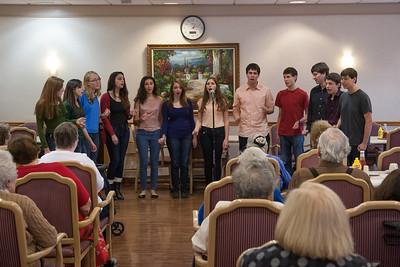 Marak Hayom teen a capella choir performing at  Revitz House -- Beth El Mitzvah Day 2013 (October 27) performances