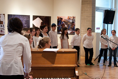 Beth El's Shir Atid children's choir performed at the kickoff event for the 100th anniversary of the Jewish Community Center of Greater Washington (JCCGW)