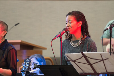 Naeemah Maddox  --Philadelphia's EZUZ with Jessi Roemer perform at Beth El, April 19, 2015