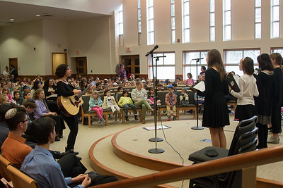 Shir Atid performing -- Wizards of Ashkenaz youth  concert for Congregation Beth El Religious School, Dec 18, 2016