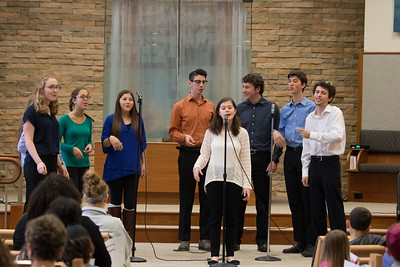 Marak Hayom performing -- Wizards of Ashkenaz youth  concert for Congregation Beth El Religious School, Dec 18, 2016