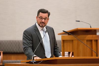 Brad Wine introduces the Ambassador -- Ron Dermer, Israeli Ambassador to the United States spoke at Congregation Beth El (Bethesda, MD) on October 17, 2017.