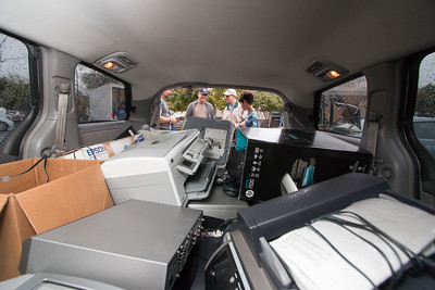 Electronics recycling -- Mitzvah Day at Congregation Beth El, October 29, 2017.