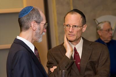 Reception following the Siyum HaTorah -- Beth El's Project 613: Writing a Torah