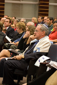 Larry Sidman with his daughter -- Siyum HaTorah -- Beth El's Project 613: Writing a Torah