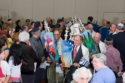 Procession of Torahs by Past & Present Beth El Presidents -- Siyum HaTorah -- Beth El's Project 613: Writing a Torah