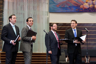 "Cantors Sidney Ezer, Yakov Hadash, Jonathan Schultz, and Matthew Klein perform ""Amar"" -- Wizards of Ashkenaz concert, April 29, 2012 at Congregation Beth El, Bethesda, MD"
