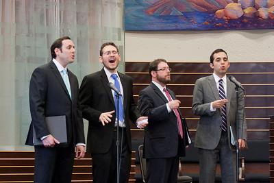 Cantors Sidney Ezer, Matthew Klein, Jonathan Schultz, and Yakov Hadash perform Mipi Eil --Wizards of Ashkenaz concert, April 29, 2012 at Congregation Beth El, Bethesda, MD