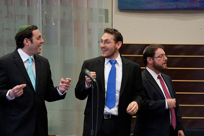Encore! Cantors Sidney Ezer, Matthew Klein, and Jonathan Schultz (with Yakov Hadash off-camera at the piano) -- Wizards of Ashkenaz concert, April 29, 2012 at Congregation Beth El, Bethesda, MD