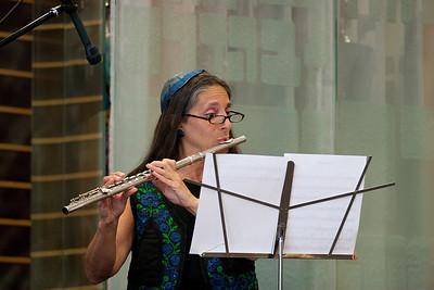 Donna Saady, flute, performs Shalom Rav with Jonathan Schultz -- Wizards of Ashkenaz concert, April 29, 2012 at Congregation Beth El, Bethesda, MD