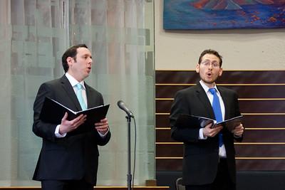 Hazzans Sidney Ezer and Matthew Klein -- Wizards of Ashkenaz concert, April 29, 2012 at Congregation Beth El, Bethesda, MD