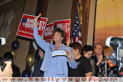 Photo of Congresswoman Shelly Berkley and her Team, Family and supportes at the Democratic Party event night of the Presidential Election 2008 night at Rio Hotel and Casino in Las Vegas by Las Vegas photographer Mark Bowers.