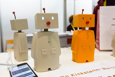 Wireless robot shaped speakers. Consumer Electronics Show (CES) 2015 - Las Vegas, NV, USA